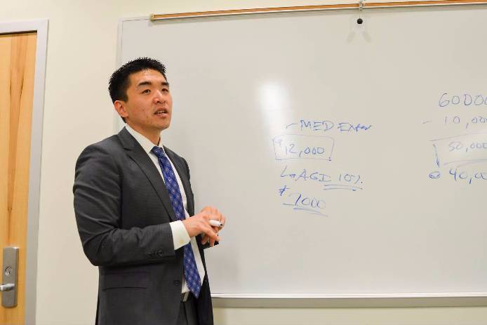 As a part of the Financial Literacy Series at San Diego Mesa College, Certified Financial Planner Paul S. Lim taught a class to give students tips on how to do their taxes during the Income Taxes Made Simple on March 14.
