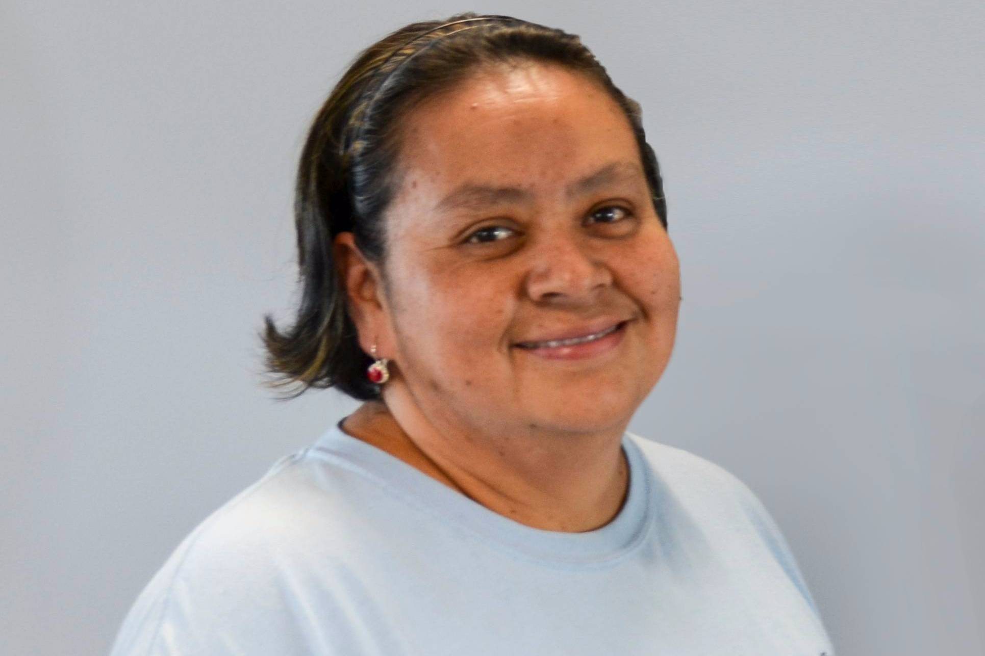 "Alma Fuentes, a Custodial Crew Leader in the Facilities Department at San Diego Mesa College, has been recognized by the Committee for Diversity Action, Inclusion and Equity for having October's ""Smile of the Month."""