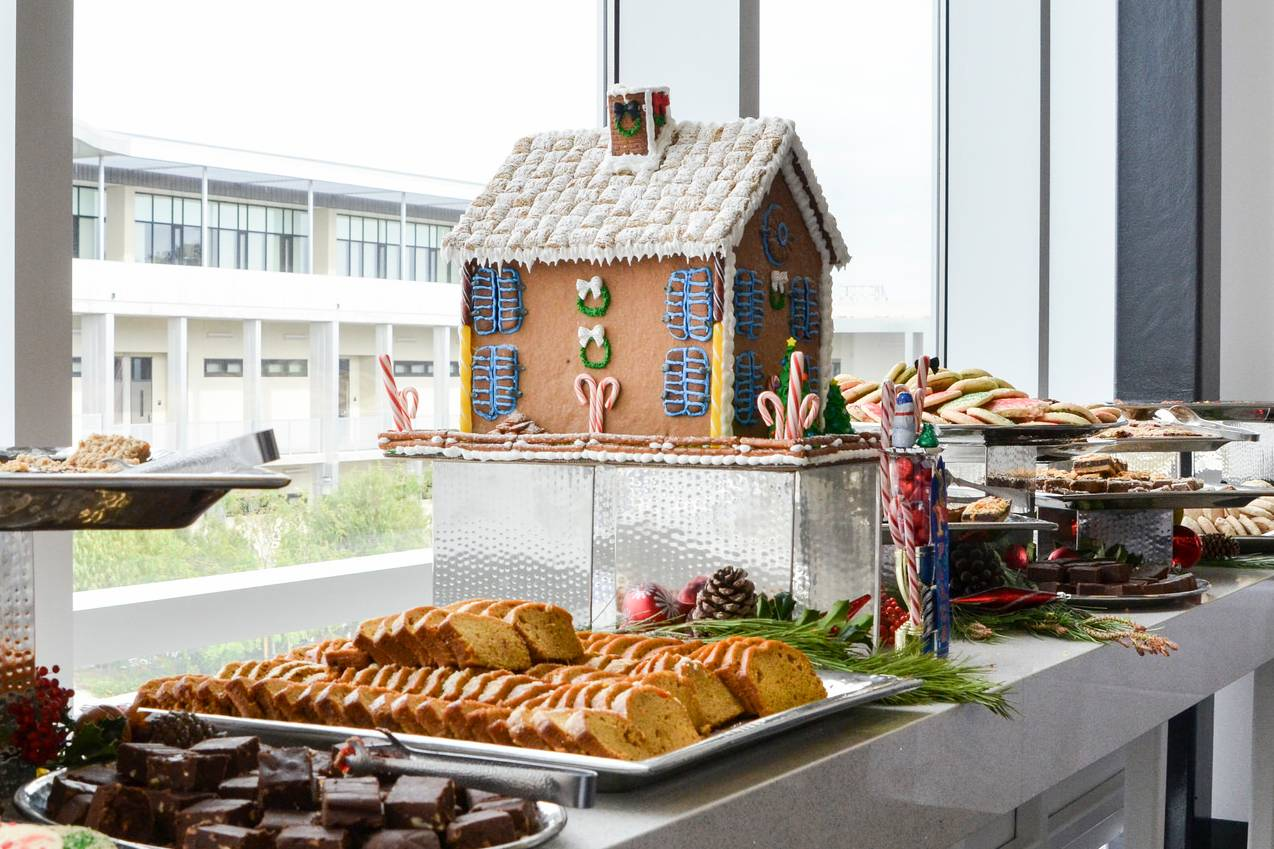 It's the most wonderful time of the year, and San Diego Mesa College's culinary students spent one of their final weeks of classes for the semester busily finishing their gingerbread houses for an annual competition on Dec. 6.