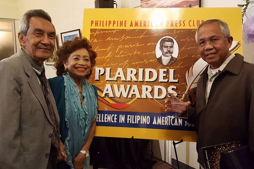 Jesse Reyes, with his high school teacher from the Philippines, at the Plaridel Awards on Oct. 7, 2016.