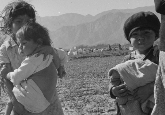 This 1937 photograph by Dorothea Lange shows children of migratory Mexican field workers in California's Coachella Valley. Source: Library of Congress