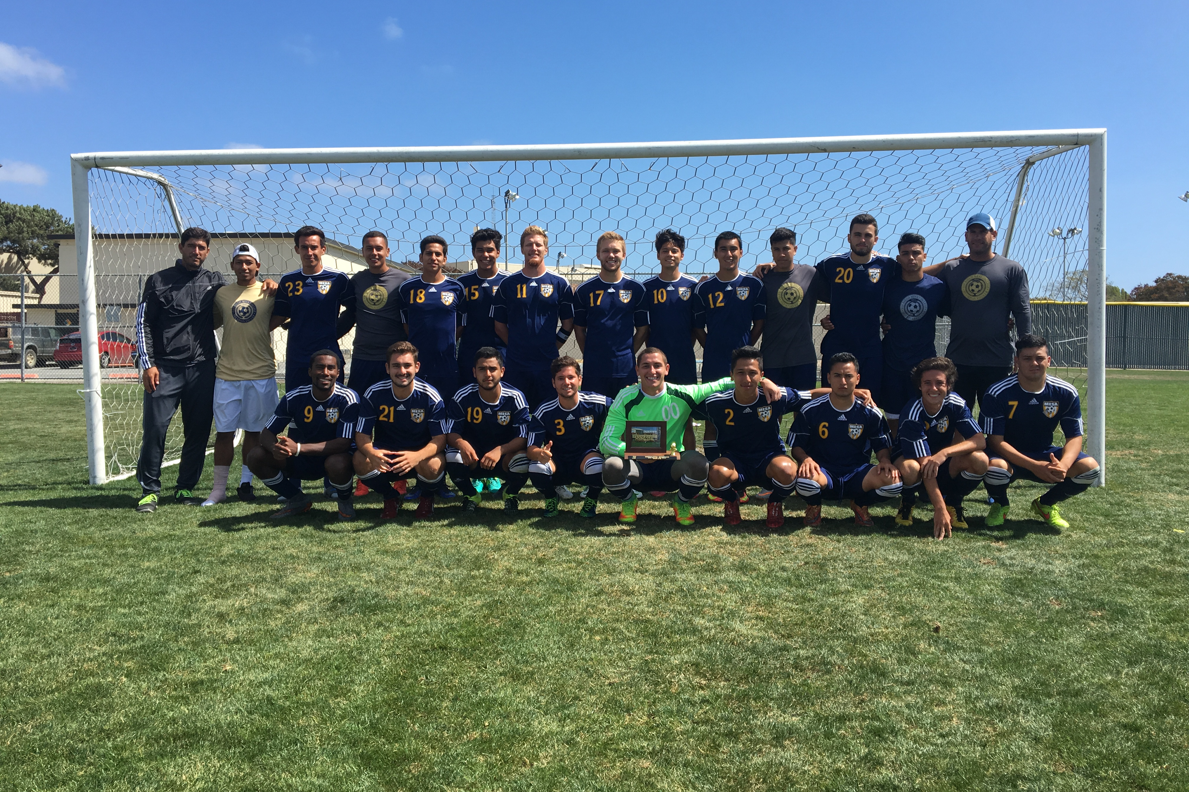 San Diego Mesa College's men's soccer team (8-4-9) will travel to take on Oxnard College (11-2-8) in a playoff game on Saturday, Nov. 19.