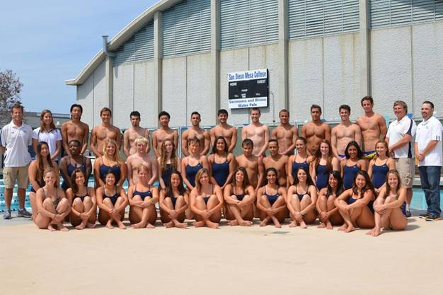 San Diego Mesa College's swim and diving teams for both men and women are recruiting for the spring 2017 competitive season, starting Jan. 3 with a month of cardio conditioning during winter intersession.