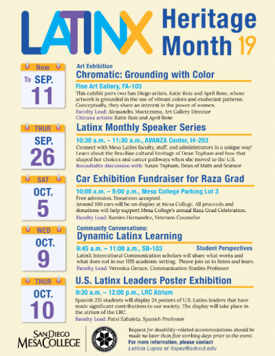 Latinx Heritage Month 2019 Flyer