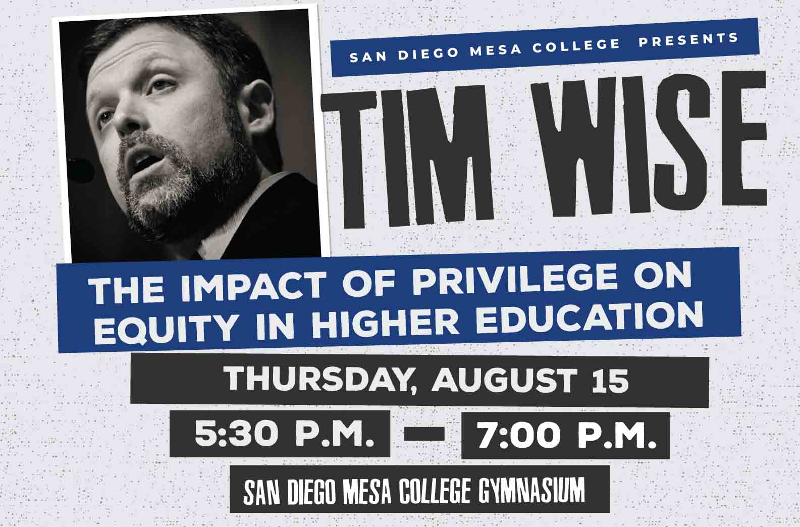 Tim Wise - The impact of privilege on equity in higher education