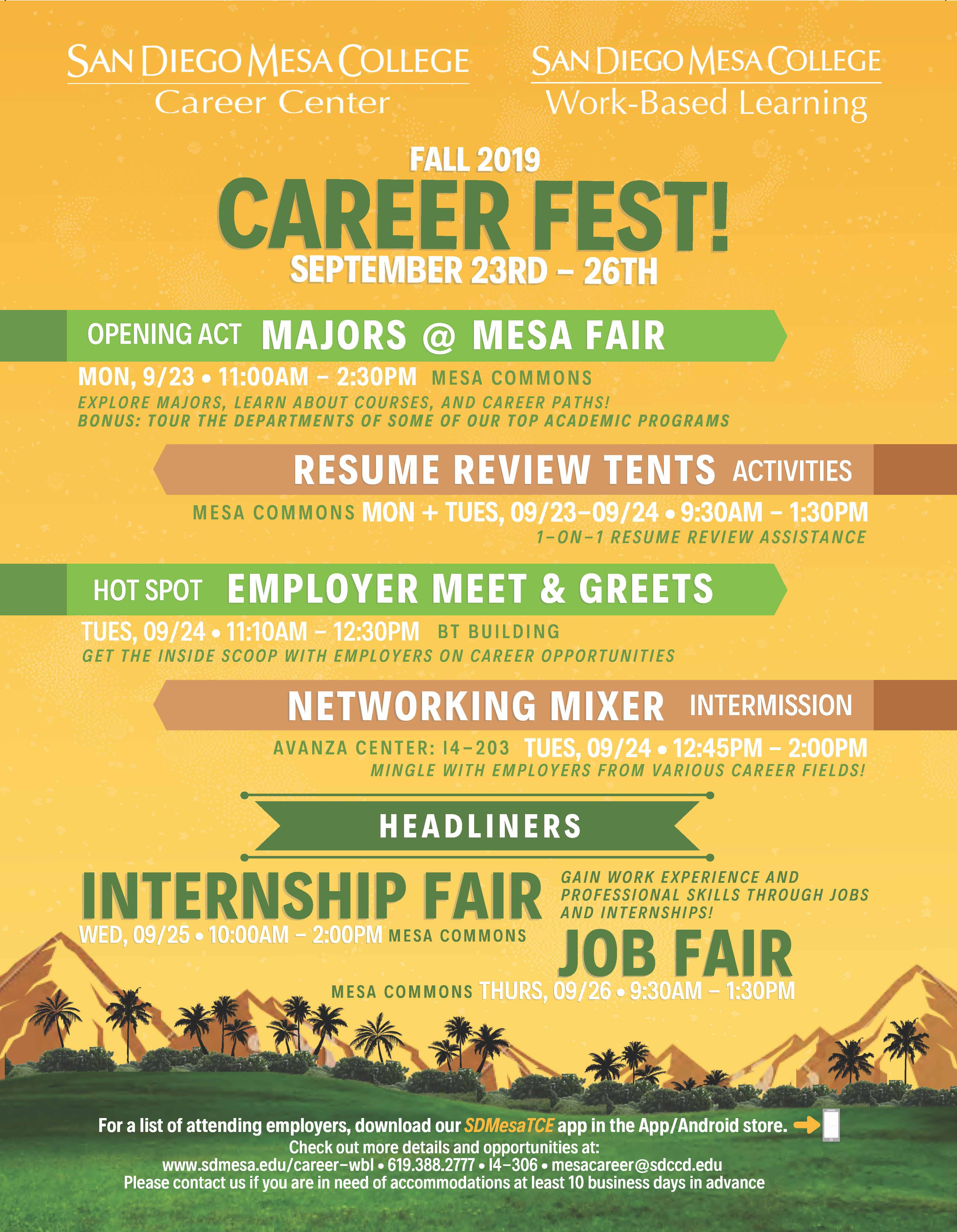 Career Fest Fall 2019 Flyer