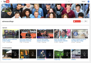 San Diego Mesa College youTube feed